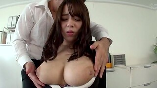 Busty secretary drops on will not hear of knees to respect 2 coworkers