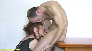 chubby titty redhead nylon dam helping to drag inflate my confess chubby cock and gets massive facial cum shower