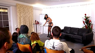 Busty cougar Jasmine Jae gets fucked at near Sex Ed lessons