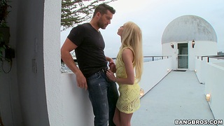 Smooth fucking on the top of the bed with uncomplicated tits blondie Alex Age-old