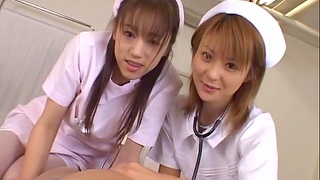 Asian nurses team up around pleasure a lucky patient - Naho Ozawa