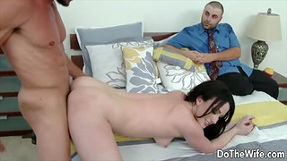 Enjoying Doggystyle While Cuckold Gets to Watch Compilation