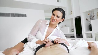 POV video of horny Penny Barber giving head with an increment of riding in reverse
