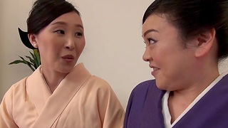 Passionate pussy licking between Uekawa Haruko with an increment of her friend