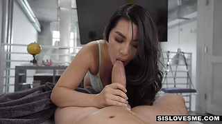 America Asian stepsister Mina Moon gives her enthusiast and gets her pussy slammed
