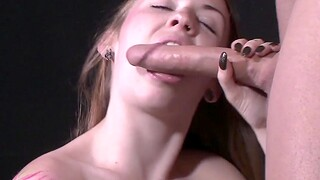 Hairy amateur Erin Rodgers gives a blowjob and gets fucked on the bed