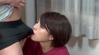 Japanese amateur Aragaki Chie moans during passionate fucking