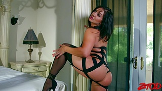 Hot ass pornstar in lingerie gets fucked by a large black dick