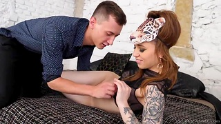 Inked chick Monika Wild is toyed and fucked anally by new boyfriend