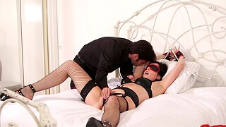 Blindfolded wife Dixie Comet loves being spanked during wild intercourse