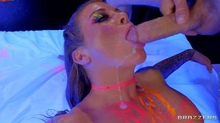 Incredible fucking nigh tattooed stripper Felicity Feline + facial