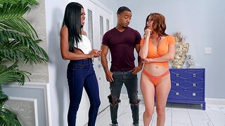 Interracial FFM threesome with horny Alexis Fawx and Nicole Kitt