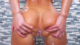 Smooth sex after a soapy oral shower