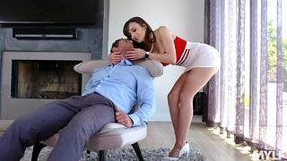 Bodacious wife Lexi Luna provides her husband far unforgettable sex fun
