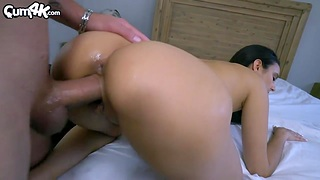 Charming babe with dimples Eliza Ibarra gets creampied several times